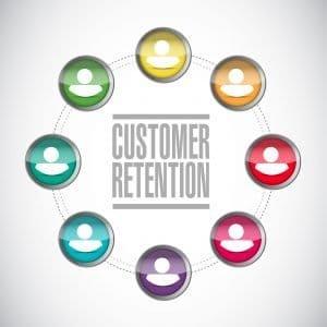 customer retention illustration design over a white background